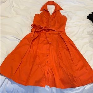 Dresses & Skirts - Orange Halter Dress